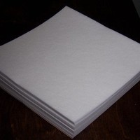 """Tear Away Machine Embroidery Stabilizer Backing 100 Precut Sheets 8""""x8"""" Medium Weight 1.8 Ounce Fits 4x4 Hoops"""