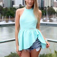 VOWELS TOP , DRESSES, TOPS, BOTTOMS, JACKETS & JUMPERS, ACCESSORIES, 50% OFF , PRE ORDER, NEW ARRIVALS, PLAYSUIT, COLOUR, GIFT VOUCHER,,Green,BACKLESS,SLEEVELESS,MINI Australia, Queensland, Brisbane