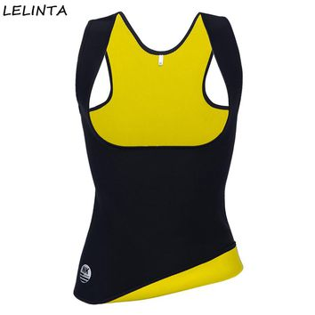 LELINTA Body Shaper Sweat Waist Trainer Slimming Vest Sauna Women Belt Hot Neoprene Gym Shirt  Sport Weight Loss Shapewear