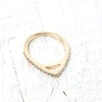 With Love From CA Faux Diamond Edge Single Ring - Womens Jewelry - Gold - One