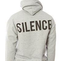 BLVCK SCVLE The Moment of Silence Pullover Hoody in Heather Gray and Black