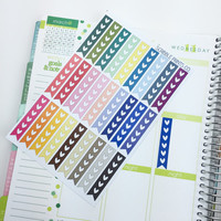 27 Heart Checklist Die-Cut Stickers // (Perfect for Erin Condren Life Planners)