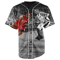 Allen Iverson V2 Button Up Baseball Jersey