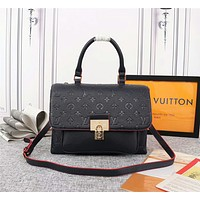 LV Louis Vuitton WOMEN'S MONOGRAM Empreinte LEATHER Marignan HANDBAG SHOULDER BAG