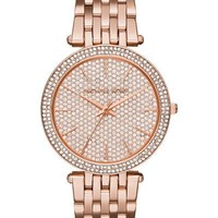 Michael Kors Darci Rose Gold-Tone Stainless Steel Ladies Pave Crystal Dial Watch