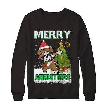 Cute Boxer Claus Merry Christmas Ugly Sweater