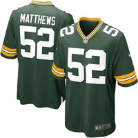 Clay Matthews Green Bay Packers Nike Team Color Game Jersey - Green