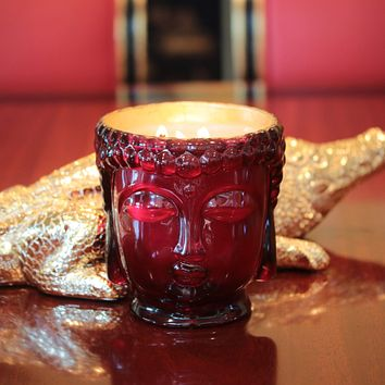 Elizabeth II | Ruby Red Glass Buddha Lined with 24K Gold