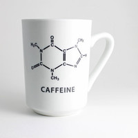 Science Coffee Cup Black and White with by LLTownleyCeramic