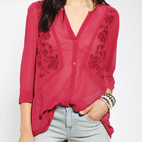 Urban Outfitters - Ecote Embroidered Folk Blouse