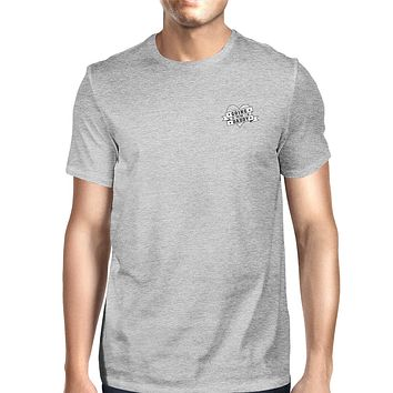 World's Best Dad Mens Grey Unique Graphic T-Shirt Gift Idea For Dad