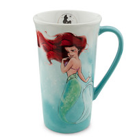 Disney The Art of Ariel Mug - White/Aqua | Disney Store
