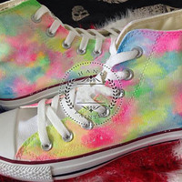Hand-painted shoes Converse  Multicolor  Graffiti