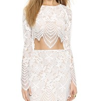 For Love & Lemons Guava Crop Top