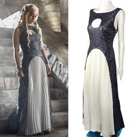 The Game Of Thrones Leather Cosplay Dress Daenerys Targaryen
