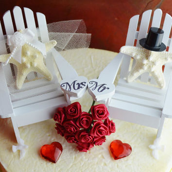 Valentine 39 S Day Wedding Cake Topper From Beach Cottage