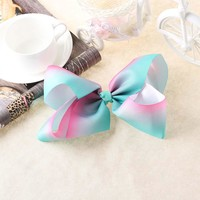 2017 Newest Big bowknot hairpins 8 inch girl barrette large colorful bow hair clip jojo Hair Accessories