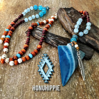 Boho Chic Arrowhead necklace, Native American jewelry