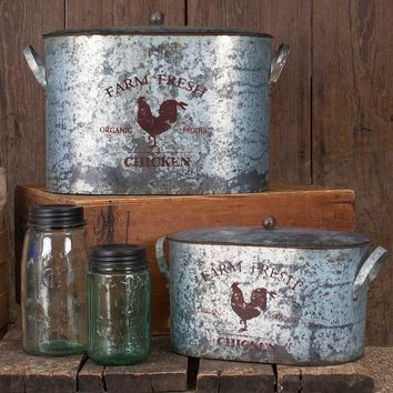 Fresh Farm Buckets with Lids-  Set of 2