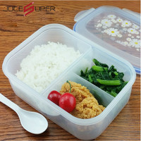 High Capacity Dinnerware Sets PP Bento Simple Lunch Box Food Container Handle Singel Layer Lunch Box TableWare High Quality