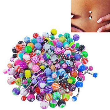 30 Pcs/set Colorful Belly Button Piercing Bars
