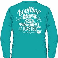 SALE Southern Sippin Bonfire Pigment Dyed Unisex Pocket Long Sleeve T-Shirt