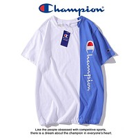 Champion New fashion embroidery letter couple top t-shirt