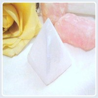 """Protection, Peace & Tranquility"" Selenite Pyramid"