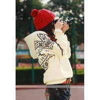 Winter Girls Womens Deer Hooded Hedging Tiny Sweater Coat 3 Colors New Arrival Super