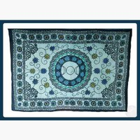 Flower Triple Moon  Tapestry