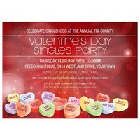Party Invitation - Valentines Day Candy Hearts Singles Event