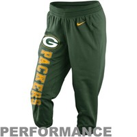 Nike Green Bay Packers Ladies Wildcard All Time Performance Capri Pants - Green