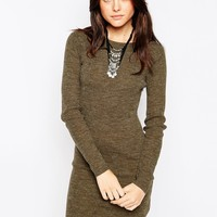 Brave Soul Long Sleeve Ribbed Jumper Dress