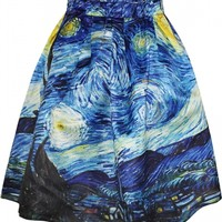Summer Famous Painting Print A-Line Skirt