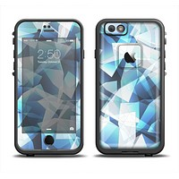 The Abstract Blue Overlay Shapes Skin Set for the Apple iPhone 6 LifeProof Fre Case