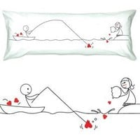 """BOLDLOFT® """"Catch My Heart"""" Body Pillowcase-Long Distance Relationship Gifts,Love Gifts for Long Distance Couples,Christmas Gifts for Him,Valentines Day Gifts for Boyfriend"""