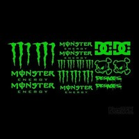 20x Various Monster Energy + DC Decals | Fear7FX