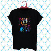 panic at the disco galaxy black T-shirt