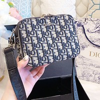 DIOR Popular Women Shopping Bag Retro Canvas Satchel Crossbody Shoulder Bag