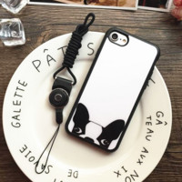 Lovely puppy Phone Case Cover for Apple iPhone 7 7 Plus 5S 5 SE 6 6S 6 Plus 6S Plus + Nice gift box! LJ161101-007