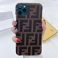 FENDI iPhone Cover Case For iphone 7 7plus 8 8plus X XR XS MAX 11 Pro Max 12 Mini 12 Pro Max