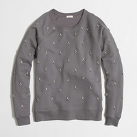 Factory jeweled sweatshirt : sweatshirts & cardigans | J.Crew Factory
