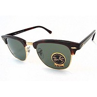 Ray Ban Clubmaster RB3016 3016 W0366 Mock Tortoise/Gold RayBan Sunglasses 51mm
