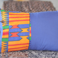 Colorful African Kente Fabric Pillow Cover
