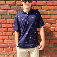 Vineyard Vines Printed Flag Whale Jersey Polo- FINAL SALE
