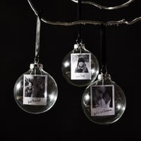 Polaroid Glass Personalised Christmas Bauble