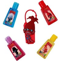 Dreamworks Trolls Hand 4 X Sanitizers with Holders