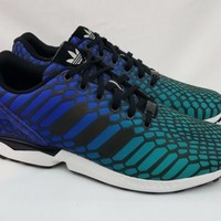 New Adidas Xeno Rainbow Reflective ZX FLUX Mens Running Shoes Size 11  AQ7419