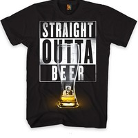 "Men's ""Straight Outta Beer"" Tee by OG Abel (Black)"