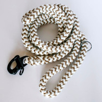 The Heritage Collection Jute & White Leash | Small Dog